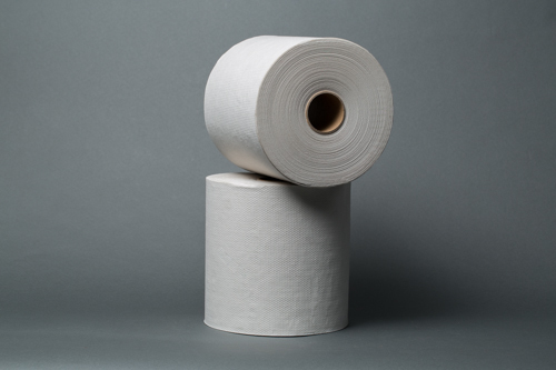 Royalty Recycled White Roll Towel 800ft