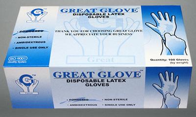 Latex Gloves Powdered