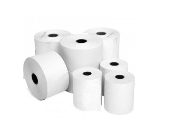 80x80x12.7mm White Thermal Paper Roll (Till Rolls) 20 Roll Box