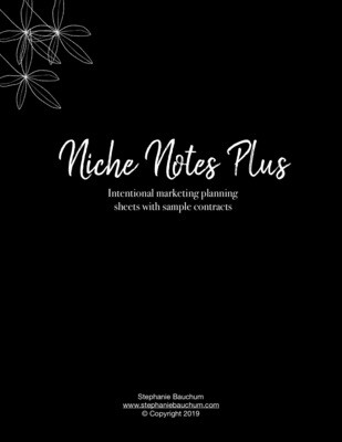 Niche Notes Printable Planning Sheets & Contract/Letter Templates