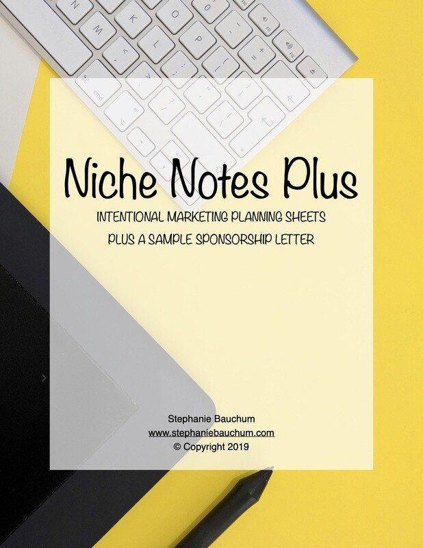 Niche Notes Printable Planning Sheets & Sponsorship Letter Template