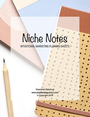 Niche Notes Printable Planning Sheets