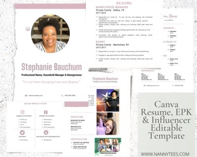 Canva EPK/Resume Template