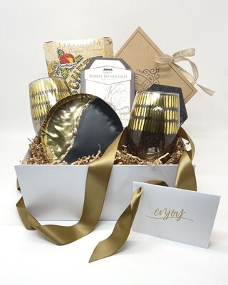 Wine and Cheese Lovers Gift Box