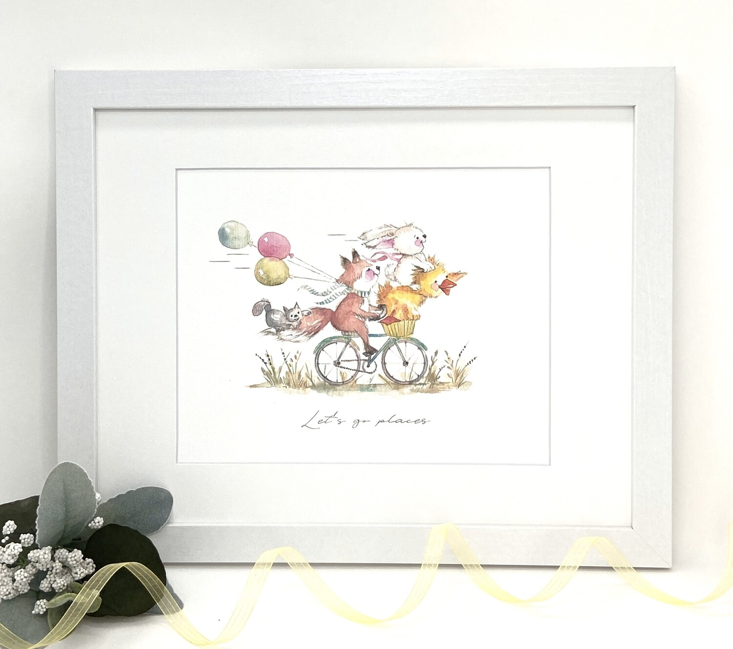 Nursery  and Children's Art Print - Framed and Signed -Let's Go Places