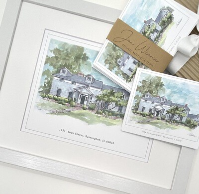 HOUSE PORTRAIT GREETING CARDS