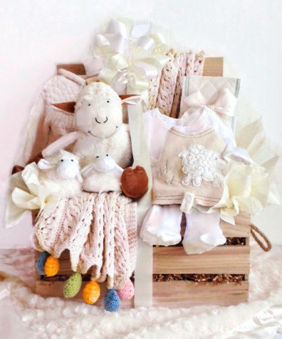 ORGANIC LAMB WOODEN CRATE FOR TWINS