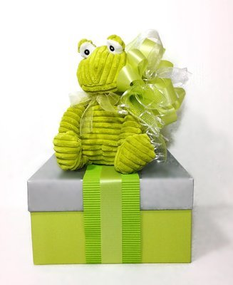GREEN FROG SIGNATURE GIFT BOX FOR BABY or TWINS