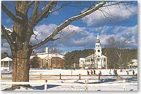 Postcard of Norwich VT in Winter