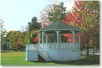 Postcard of Norwich VT Bandstand