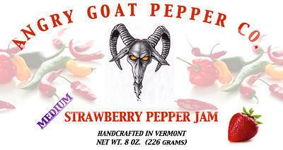 Angry Goat Strawberry Pepper Jam (Medium)