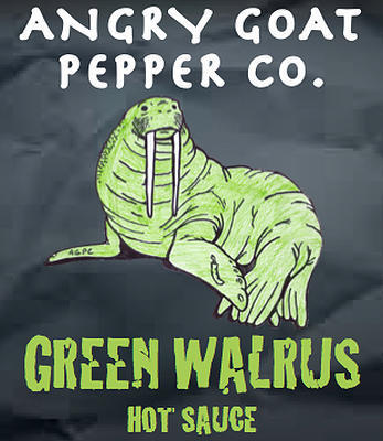 Angry Goat Green Walrus Hot Sauce (2+/10)