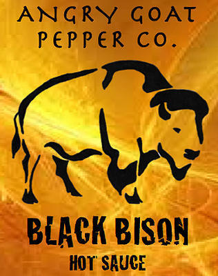 Angry Goat Black Bison Hot Sauce CAUTION * HOT! (10+/10)