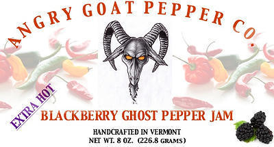 Angry Goat Blackberry Ghost Pepper Jam (EXTRA HOT!!)