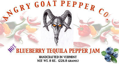 Angry Goat Blueberry Tequila Pepper Jam (Hot)