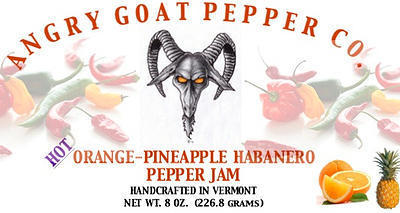 Angry Goat Orange-Pineapple Habanero Pepper Jam (Hot)