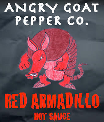 Angry Goat Red Armadillo Hot Sauce (3+/10)