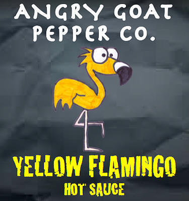 Angry Goat Yellow Flamingo Hot Sauce (4+/10)