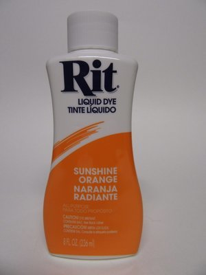 Rit Dye # Sunshine Orange color