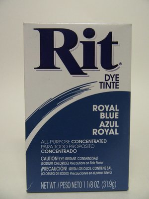 Clothes Dye -  Royal Blue  color