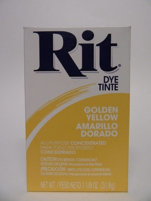 Clothes Dye -  Golden Yellow  color