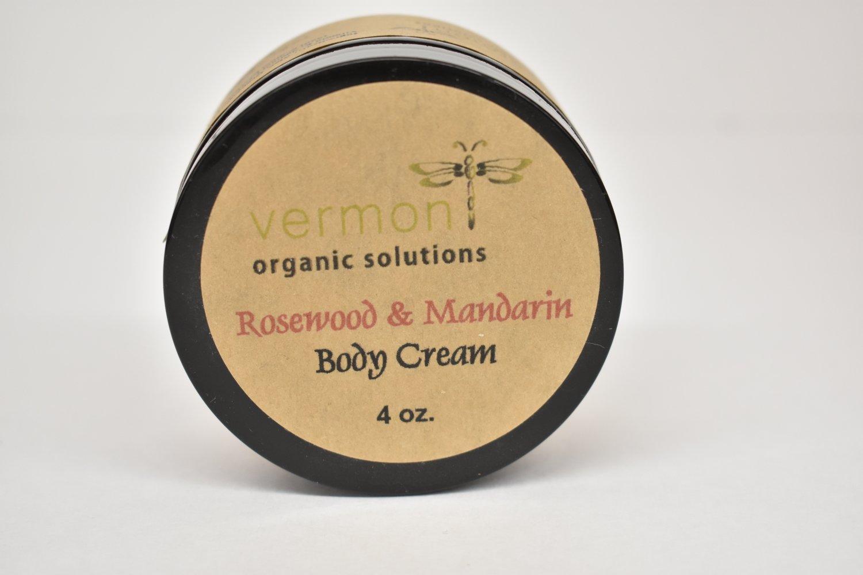 Vermont Organic Body Cream- Rosewood & Mandarin 4oz