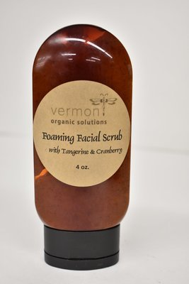 Vermont Organic Foaming Facial Scrub with Tangerine and Cranberry