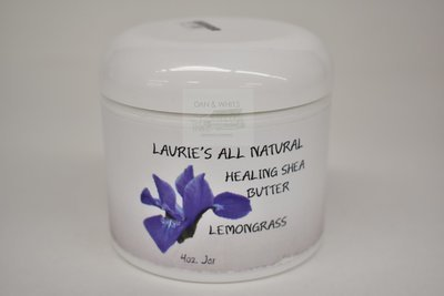 Laurie's All Natural Healing Shea Butter with Lemongrass 40z
