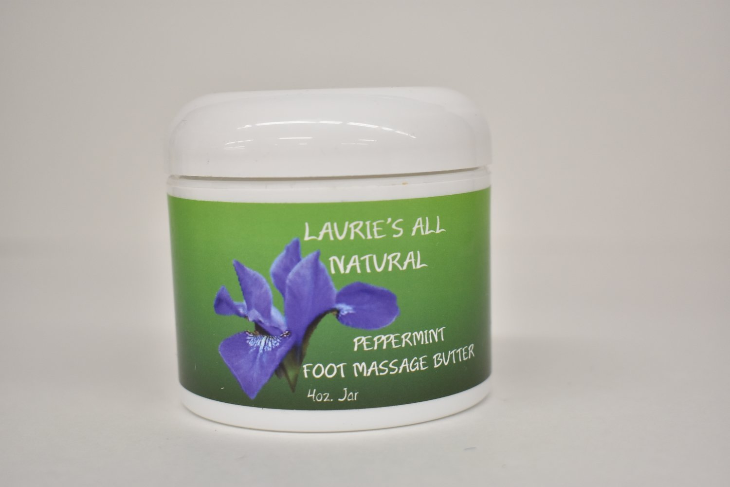 Laurie's All Natural Peppermint Foot Massage Butter 4oz