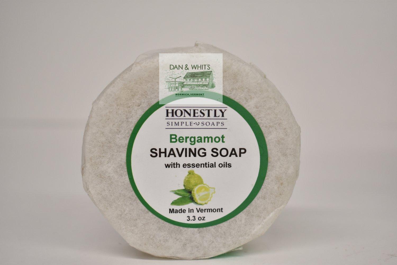Honestly Bergamot Shaving Soap with essential oils. 3.3 oz