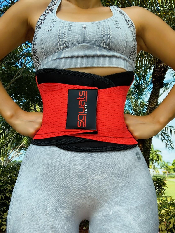 Squats Team Fitness Belt  (RED)
