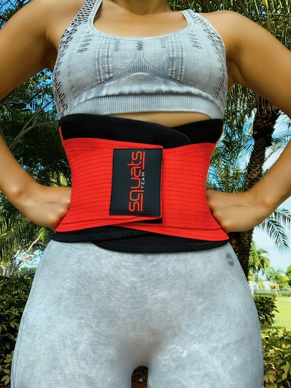 Squats Team Fitness Belt  (RED)