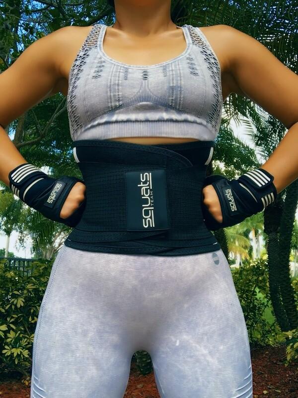 SquatsTeam Fitness Belt  (Black & White)