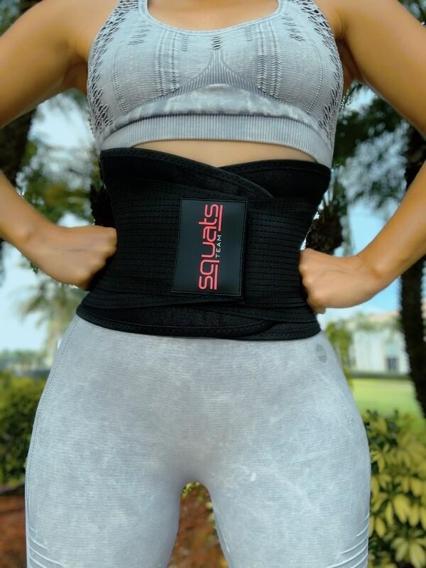 SquatsTeam Fitness Belt  (Black)