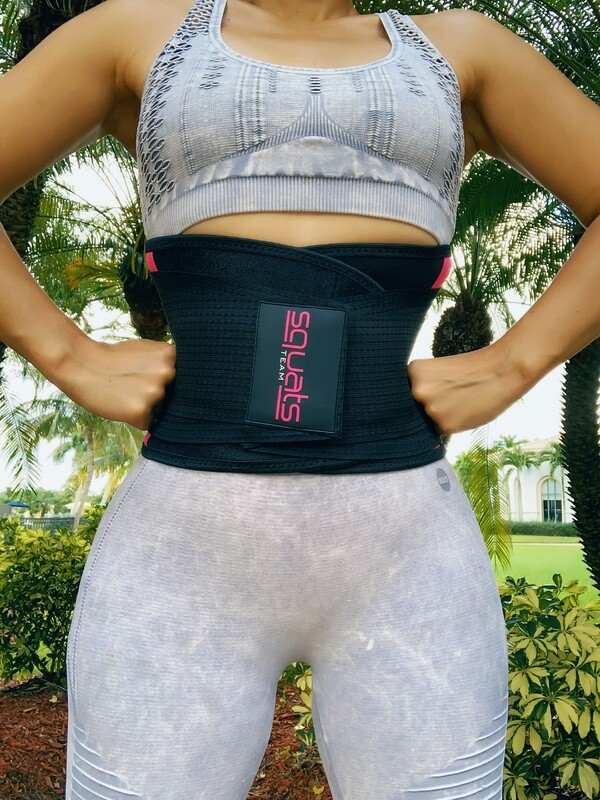 SquatsTeam Fitness Belt  (Hot Pink)