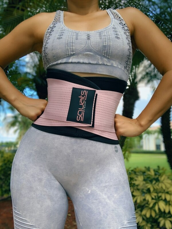 SquatsTeam Fitness Belt  (ROSE II)