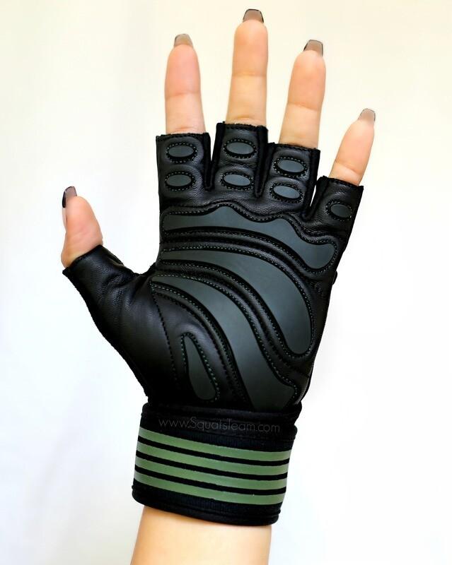 SQUATSTEAM Fitness Gloves (Olive)
