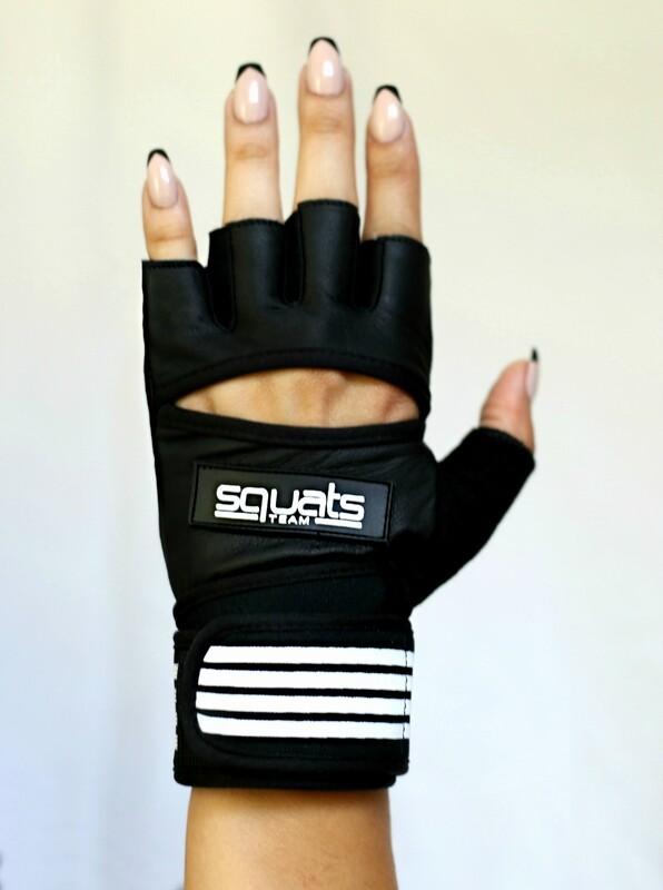 SQUATSTEAM Fitness Gloves (White)