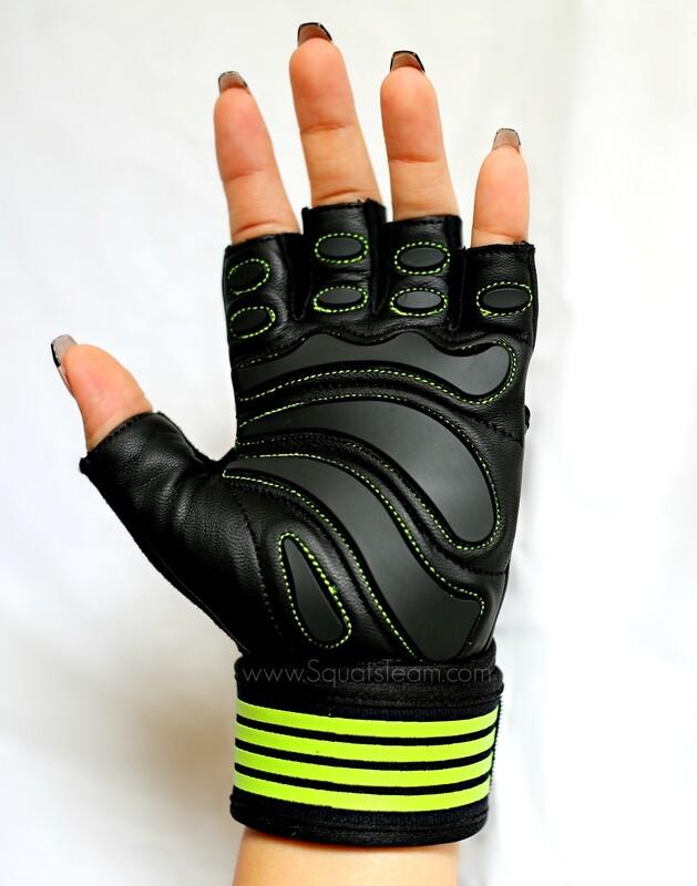 SQUATSTEAM Fitness Gloves (Lime)