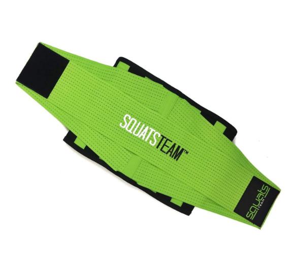 SquatsTeam Fitness Belt  (Lime)