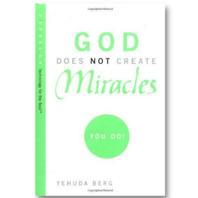 God does not create miracles.