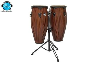 Set de Congas LP City 11 y 12 Tallado Caoba LP647NY-CMW