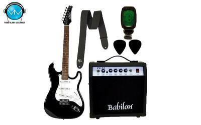Paquete Guitarra Eléctrica Babilon BEG-462-BK