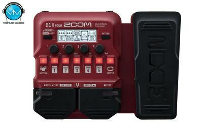 Multiefectos para bajo Zoom B1X FOUR - con pedal de expresión