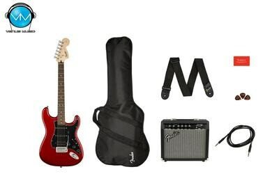 GUITARRA ELÉCTRICA FENDER SQUIER AFFINITY SERIES™ STRATOCASTER® HSS PACK CANDY APPLE RED 0371824009