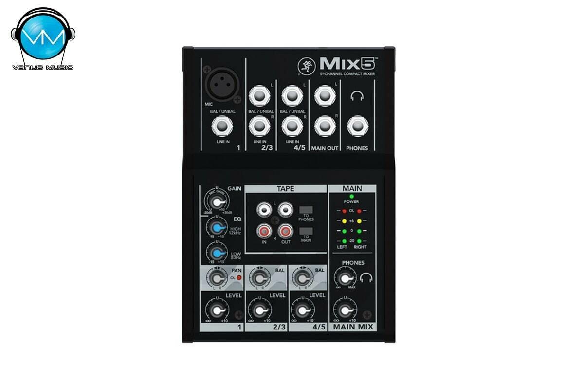 Mezcladora Compacta 5 Canales Mackie Mix5
