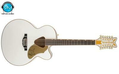 Guitarra Electroacústica Gretsch G5022CWFE-12 Rancher™ Falcon Jumbo 12-String Cutaway Electric, Fishman® White