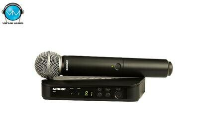Sistema Inalámbrico Shure Vocal de Mano BLX24/SM58