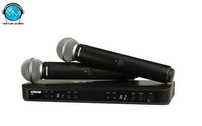 Sistema inalámbrico dual para voz, con dos micrófonos SM58 Shure BLX288/SM58