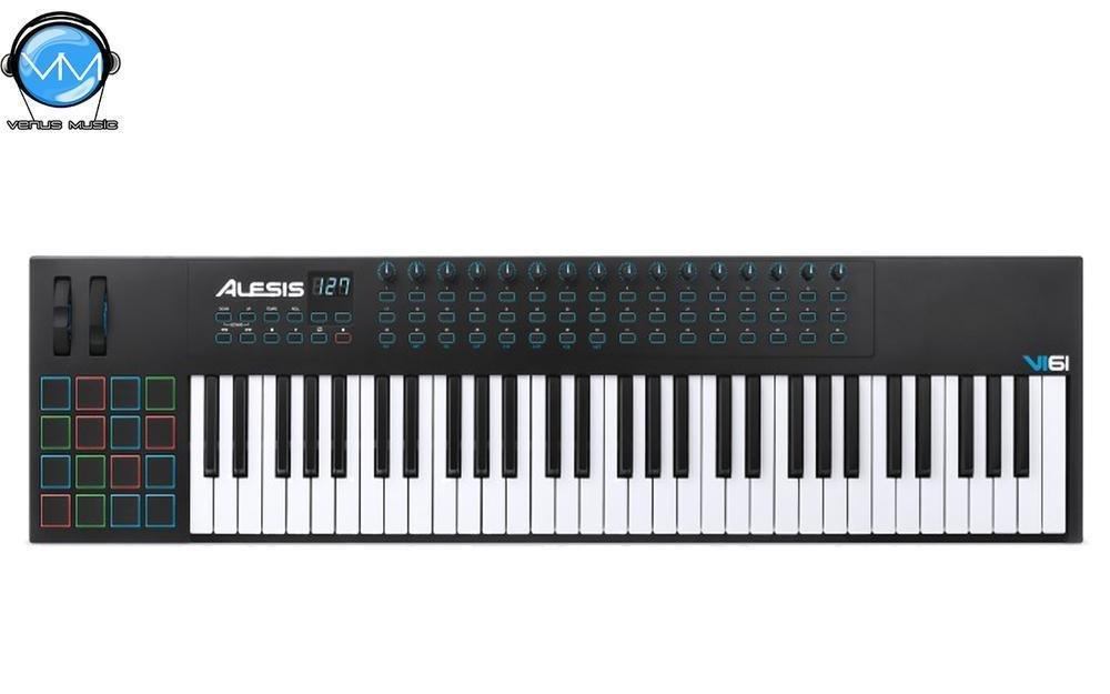 ALESIS VI61 CONTROLADOR USB 61 TECLAS SEMIPESADAS